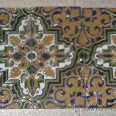 Antigüedades: 3 AZULEJOS DE ARISTA, DE MENSAQUE RODRÍGUEZ. TRIANA. SEVILLA. . Lote 31254347