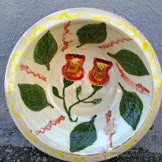 Antigüedades: LEBRILLO DE ALFAR PINTADO A MANO. Lote 31259173