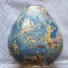 Antigüedades: JARRON ESMALTADO ROYO. Lote 56378400