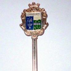 Antigüedades: CUCHARILLA DE PLATA DE LA CIUDAD DE GUADALUPE. Lote 31268246