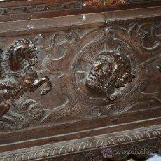 Antigüedades: ANTIGUA ARCA ESTILO FRANCES CON DIBUJOS EN RELIEVE. Lote 31271150