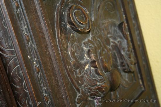Antigüedades: antigua arca estilo frances con dibujos en relieve - Foto 7 - 31271150