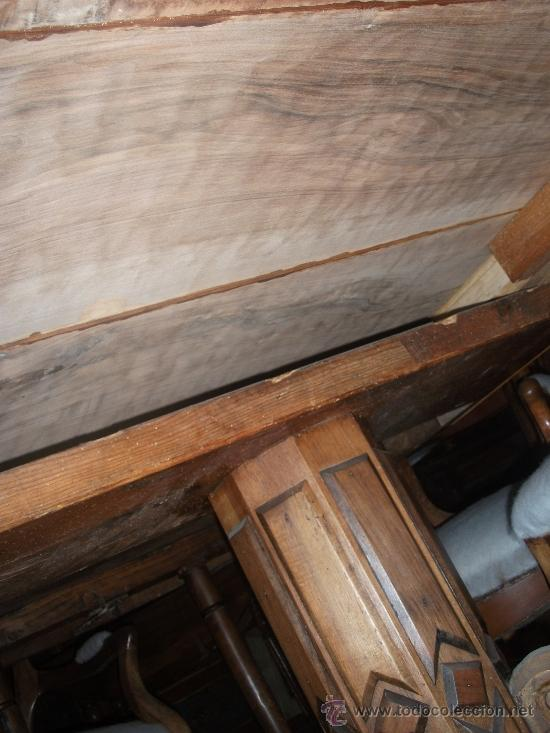 Antigüedades: mesa de comedor isabelina de nogal sxix - Foto 2 - 27219499