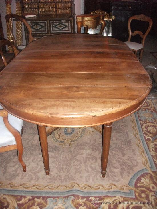 Antigüedades: mesa de comedor isabelina de nogal sxix - Foto 8 - 27219499