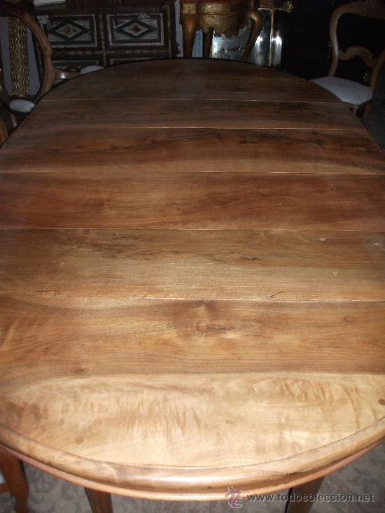 Antigüedades: mesa de comedor isabelina de nogal sxix - Foto 9 - 27219499