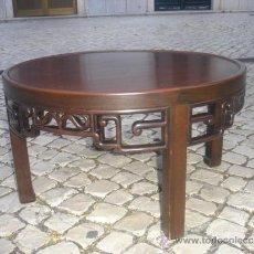 Antigüedades: MESA BAJA ORIENTAL DE MOGNO. Lote 31295726