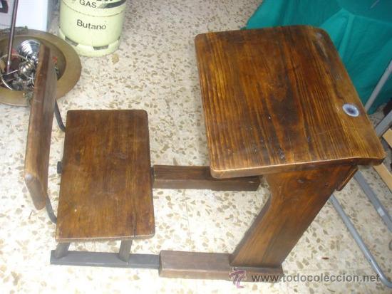Antiguo pupitre y silla con tinetero de ceramic comprar - Venta de escritorios antiguos ...