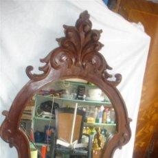 Antigüedades: ESPEJO DE MADERA DE MOGNO. Lote 194576345