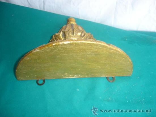 Antigüedades: mensula de madera dorada - Foto 2 - 31295906