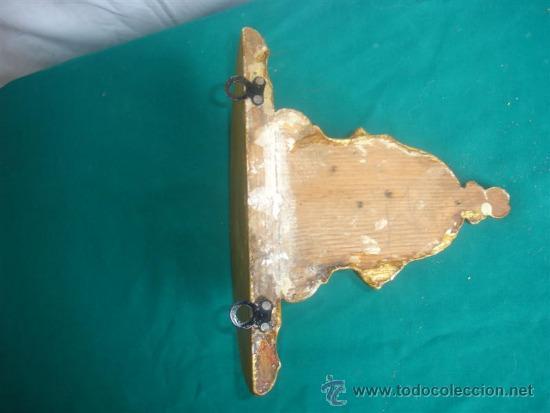 Antigüedades: mensula de madera dorada - Foto 3 - 31295906