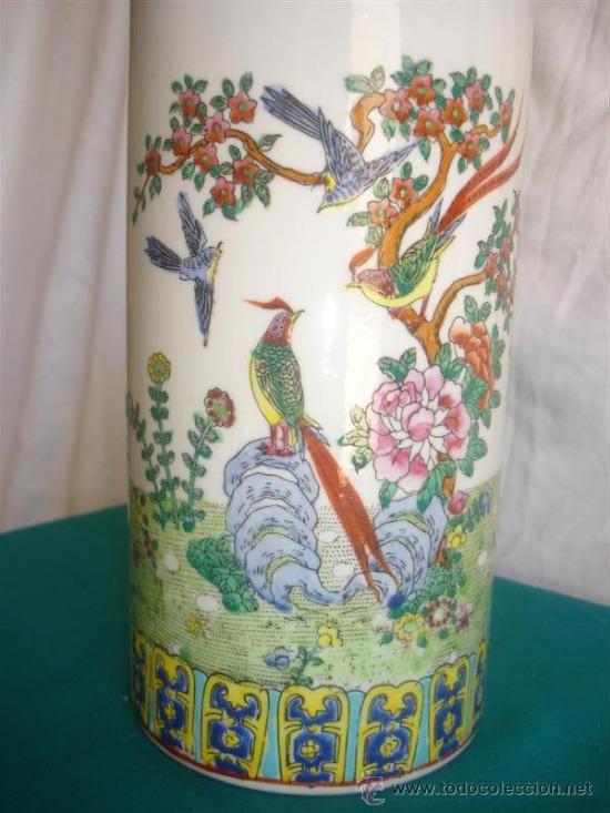 Antigüedades: florero de porcelana oriental - Foto 2 - 31296241