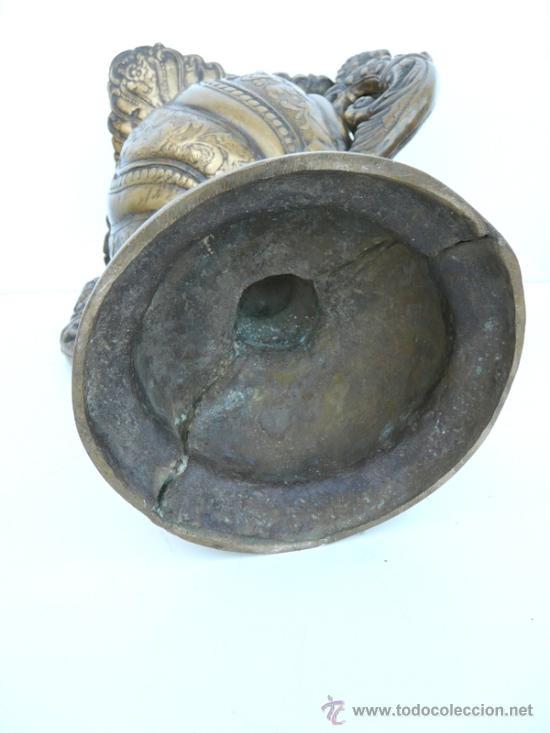 Antigüedades: FANTASTICA PIEZA DE BRONCE DEL SIGLO XVIII - 8,5 KILOS DE PESO - Foto 12 - 31311593
