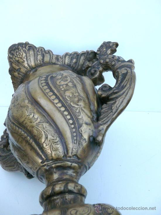 Antigüedades: FANTASTICA PIEZA DE BRONCE DEL SIGLO XVIII - 8,5 KILOS DE PESO - Foto 17 - 31311593