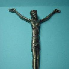 Antigüedades: ANTIGUO CRISTO EN BRONCE, 18-20CM. FIGURA DE JESUCRISTO. CRUZ RELIGIOSA.. Lote 31302510