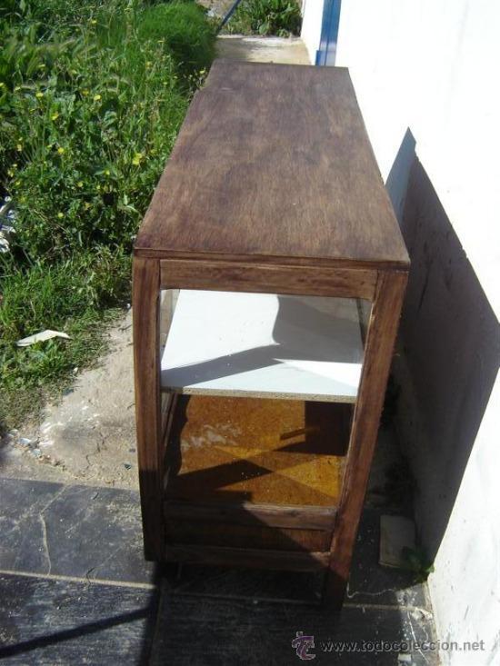 Antigüedades: mueble aparador con vitrina - Foto 2 - 31315077