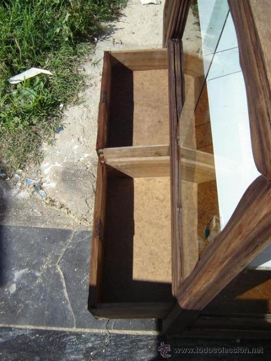 Antigüedades: mueble aparador con vitrina - Foto 3 - 31315077