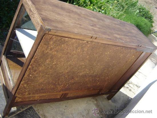 Antigüedades: mueble aparador con vitrina - Foto 4 - 31315077