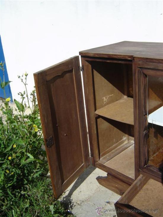 Antigüedades: mueble aparador con vitrina - Foto 5 - 31315077