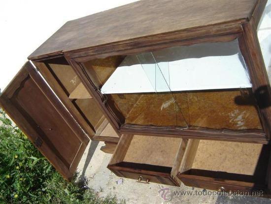 Antigüedades: mueble aparador con vitrina - Foto 6 - 31315077