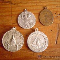 Antigüedades: LOTE 4 MEDALLAS RELIGIOSAS.. Lote 31321743