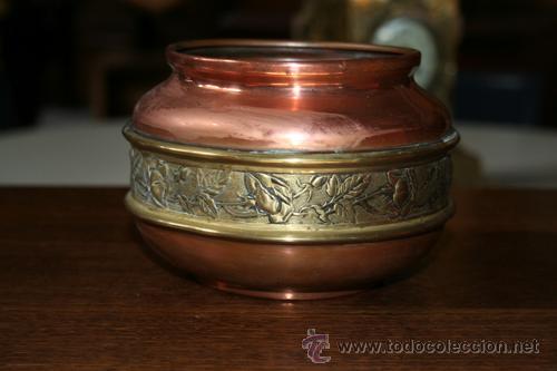 FLORERO EN COBRE REF.5110 (Antigüedades - Hogar y Decoración - Floreros Antiguos)