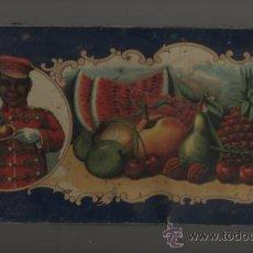Antigüedades: CAJA ANTIGUA FRANCISCO MORENO S.A., CALAHORRA. FRUTAS CRISTALIZADAS. Lote 31338944