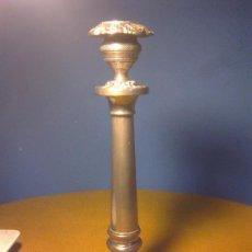 Antigüedades: CANDELABRO DE METAL PLATEADO SIGLO XIX. Lote 31340291