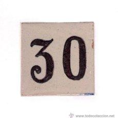 Antigüedades: ANTIGUO AZULEJO DE TRIANA DE NÚMERO DE VIVIENDA.. Lote 31340681