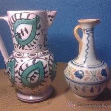 Antigüedades: 2 JARRAS DE CERAMICA PINTADA. Lote 31354878