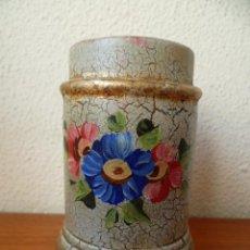 Antigüedades: PRECIOSO JARRON PINTADO A MANO. (VER FOTOS).. Lote 31359519