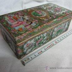 Antigüedades: PRECIOSA CAJA DE PORCELANA DEL CANTON / SIGLO XIX. Lote 31663110