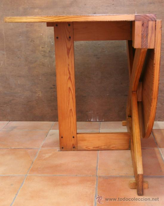 Antigüedades: MESA MOBILA DE ALAS - Foto 2 - 31408970
