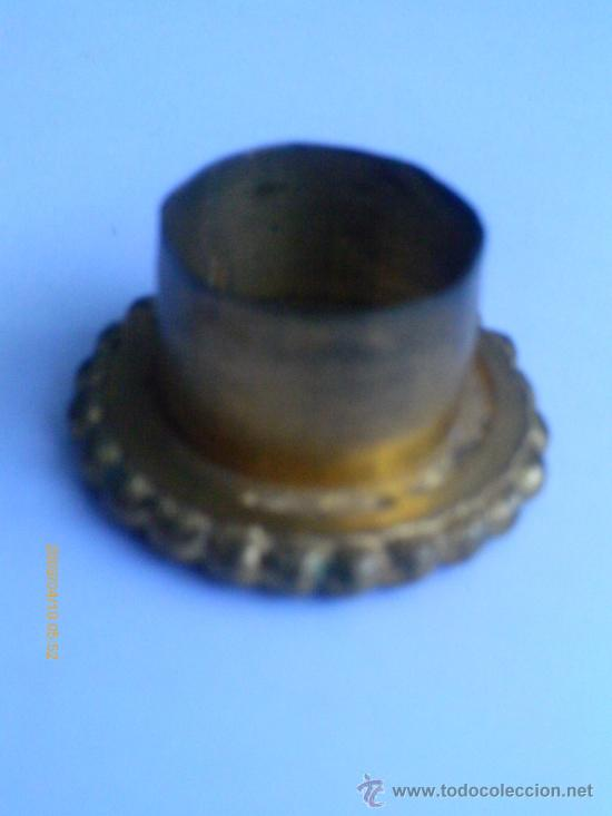Antigüedades: PORTAVELAS .BRONCE DORADO - Foto 3 - 31405098