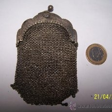 Antigüedades: MONEDERO ANTIGUO PLATA LEY. Lote 31420155