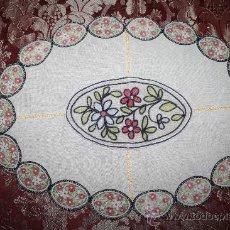 Antigüedades: BONITO TAPETE ESTILO ART DÉCO CON BORDADOS MANUALES Y APLICACIONES. Lote 31448322