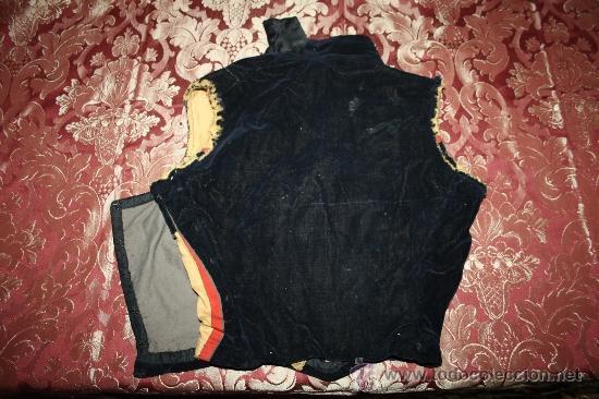 Antigüedades: BONITA CHAQUETA EN TERCIOPELO AZUL ULTRAMAR S.XIX - Foto 4 - 31454795
