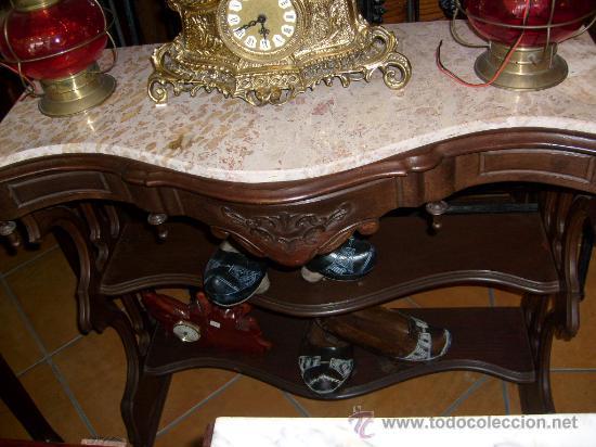 CONSOLA CON MÁRMOL (Antigüedades - Muebles Antiguos - Consolas Antiguas)