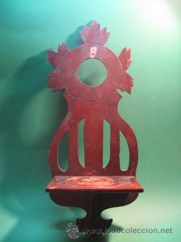 PEQUEÑA Y ANTIGUA MENSULA O REPISA PARA SANTO, MADERA, PP.SG.XX. 1890 -1910 (Antigüedades - Muebles Antiguos - Ménsulas Antiguas)