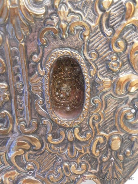 Antigüedades: Custodia – Relicario. Siglo XVIII. Metal plateado y madera. - Foto 10 - 31473790