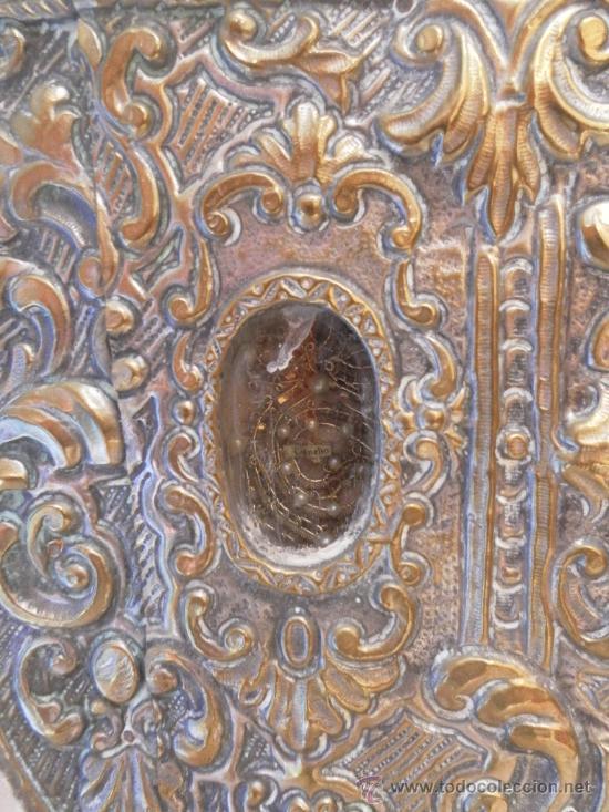 Antigüedades: Custodia – Relicario. Siglo XVIII. Metal plateado y madera. - Foto 12 - 31473790