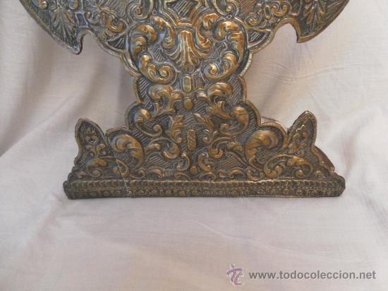 Antigüedades: Custodia – Relicario. Siglo XVIII. Metal plateado y madera. - Foto 13 - 31473790