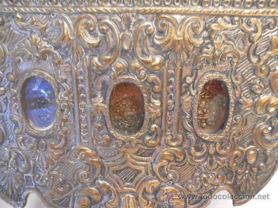 Antigüedades: Custodia – Relicario. Siglo XVIII. Metal plateado y madera. - Foto 14 - 31473790