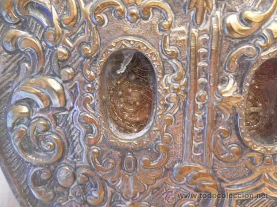 Antigüedades: Custodia – Relicario. Siglo XVIII. Metal plateado y madera. - Foto 15 - 31473790