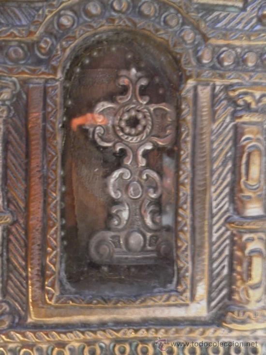 Antigüedades: Custodia – Relicario. Siglo XVIII. Metal plateado y madera. - Foto 16 - 31473790