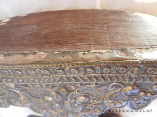 Antigüedades: Custodia – Relicario. Siglo XVIII. Metal plateado y madera. - Foto 26 - 31473790