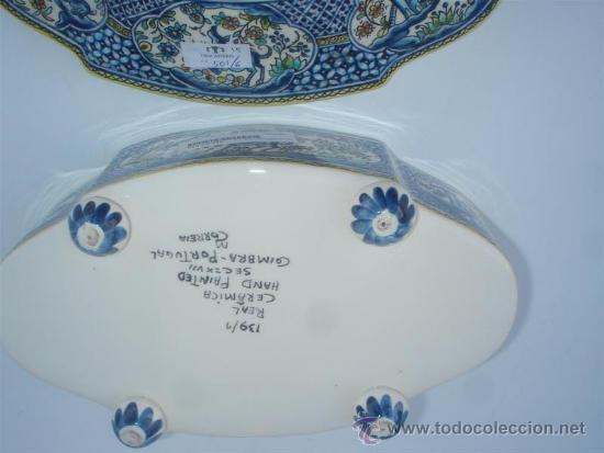 Antigüedades: centro de ceramica pinatdo a mano - Foto 3 - 31521060