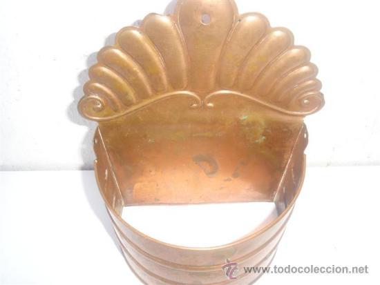 Antigüedades: cacharro de cobre - Foto 2 - 31521081