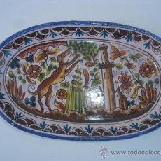 Antigüedades: BANDEJA ANTIGUA FIRMADA. Lote 31521104