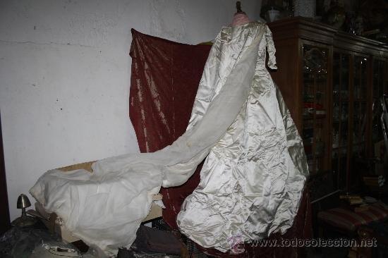 excepcional vestido de novia de alta costura,co - vendido en subasta