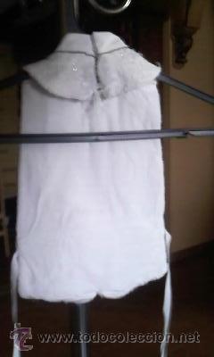 Antigüedades: Antigua torera con pechera de chaleco para niño.Blanco perla con destellos de brillo. - Foto 7 - 31532394